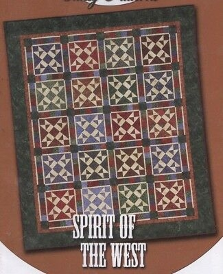Stylish debbie caffreys classy patterns quilt pattern spirit of the west 83 x 99 185844000062 ebay 9 Modern Debbie Caffrey Quilt Patterns Inspirations