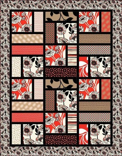 Stylish denovo quilt pattern reminds me of a simplified turning 11 Unique Block In A Block Quilt Pattern