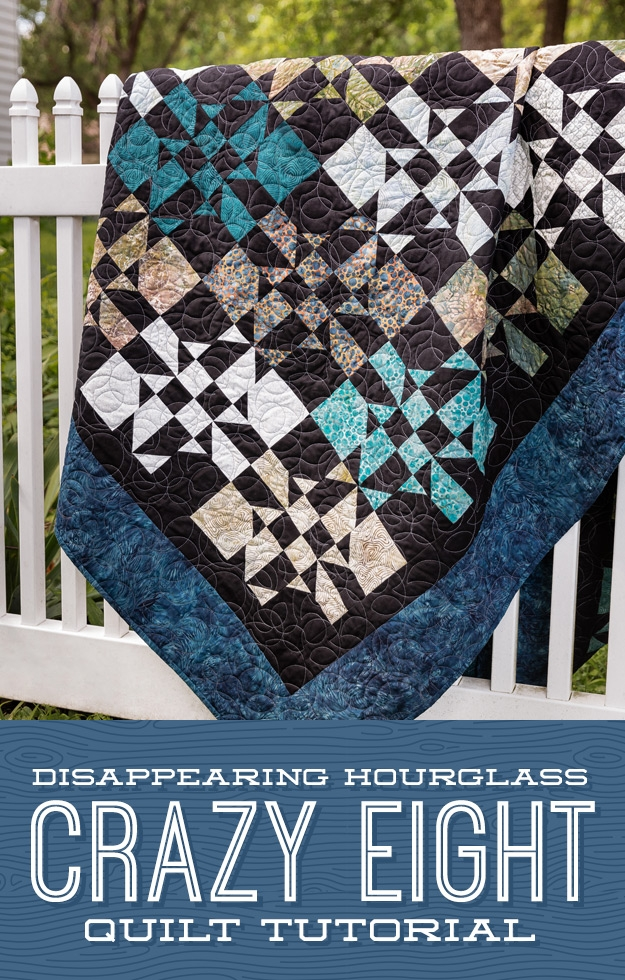 Stylish disappearing hourglass crazy eight quilt missouri star blog 11 Unique Crazy Eight Quilt Pattern Gallery