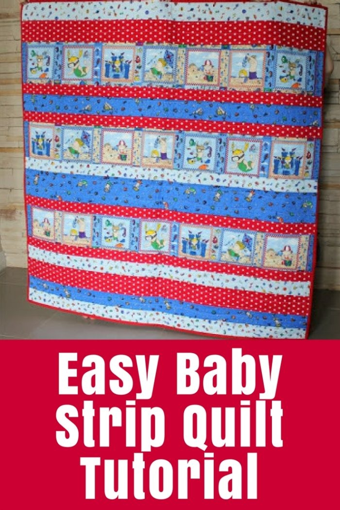 Stylish easy ba strip quilt tutorial the crafty mummy Interesting Easy Strip Quilt Patterns Gallery