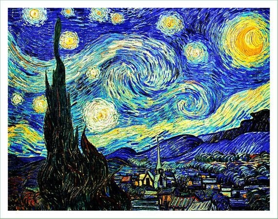 Stylish fabric panel vincent van gogh 37 vc for sewing Interesting Elegant Van Gogh Quilting Fabric Ideas Gallery