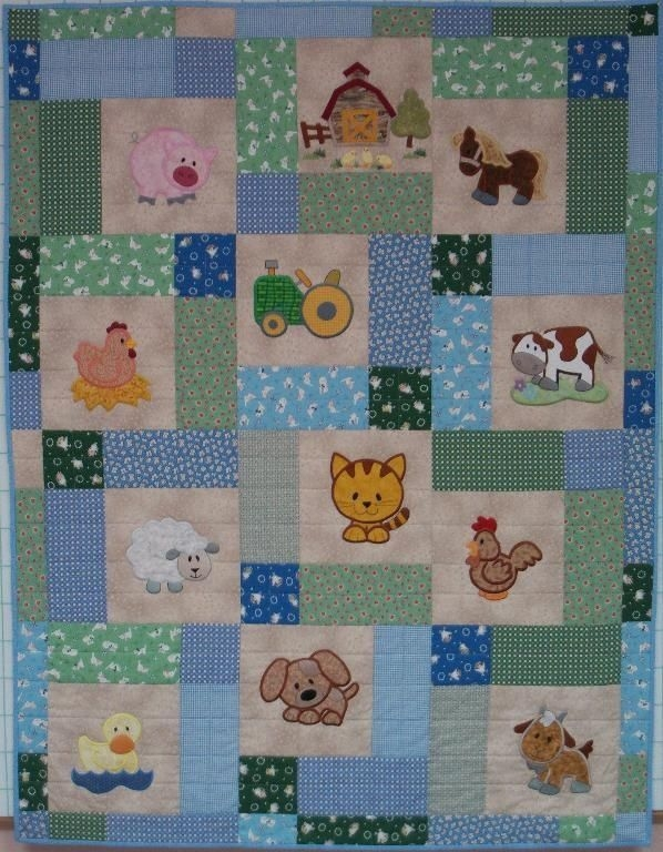 Stylish farm ba quilt patterns free ba farm quilt 10 Stylish Patchwork Cot Quilt Patterns Free Gallery
