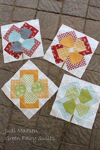 10 Interesting Flower Patchwork Quilt Patterns