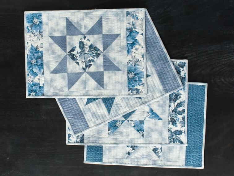 Stylish free quilt pattern scrappy ohio star placemats i sew free 11 Cool Quilt Patterns For Placemats Inspirations