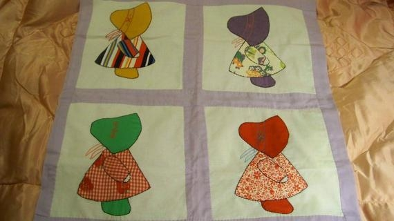 Stylish little dutch girl vintage handmade and appliqued wall hanging tablecloth crib quilt cecelia marie 155 11 Modern Little Dutch Girl Quilt Pattern