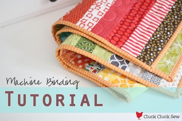 Stylish machine binding tutorial cluck cluck sew 9 Stylish Sewing Binding On Quilt