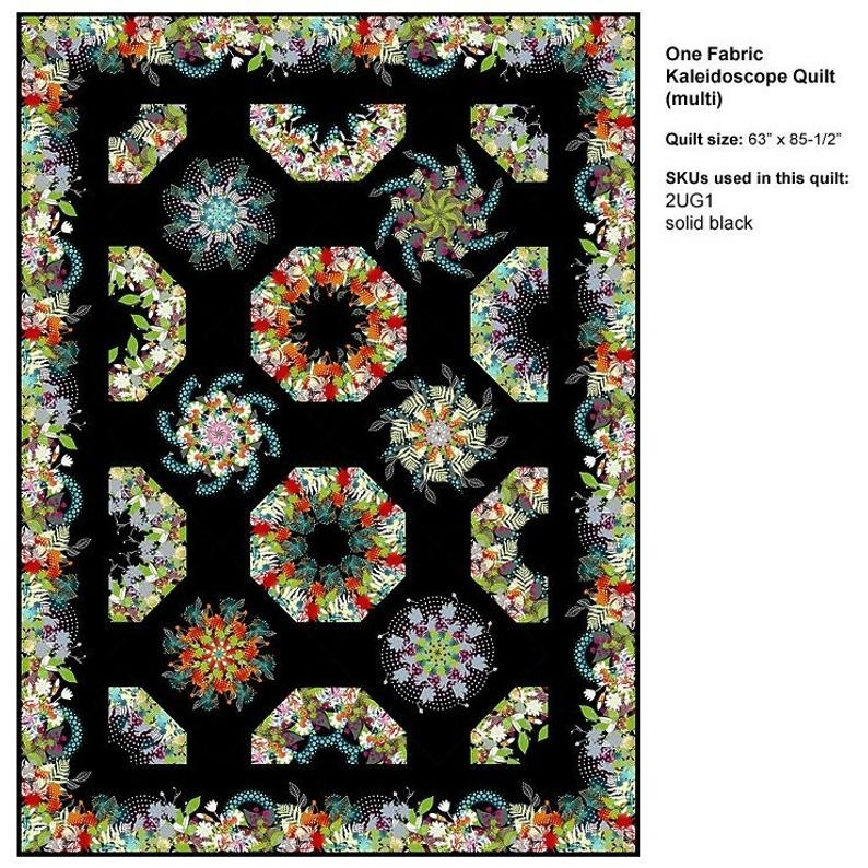 Stylish pattern one fabric kaleidoscope quilt pattern 64in x 85in jason yenter 11 Cool One Fabric Quilt Pattern Gallery