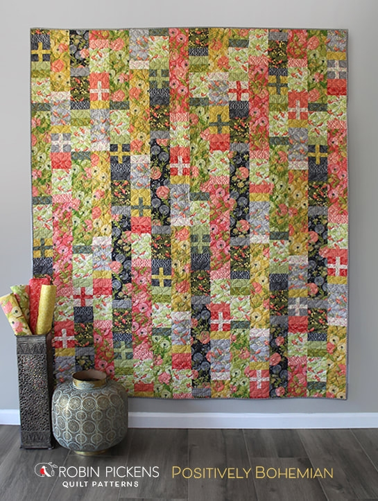 Stylish positively bohemian quilt robin pickens in easy piecing 9   Moda Fabric Quilt Patterns Gallery