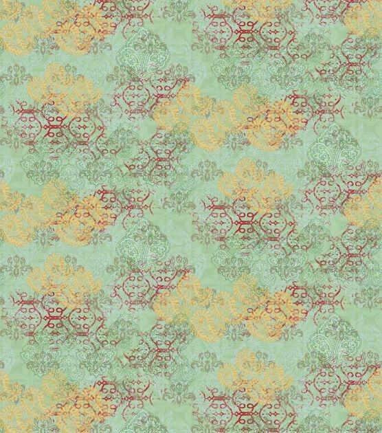 Stylish premium cotton fabric susan winget bohemian paisley Modern Pre Quilted Fabric Joann Inspirations