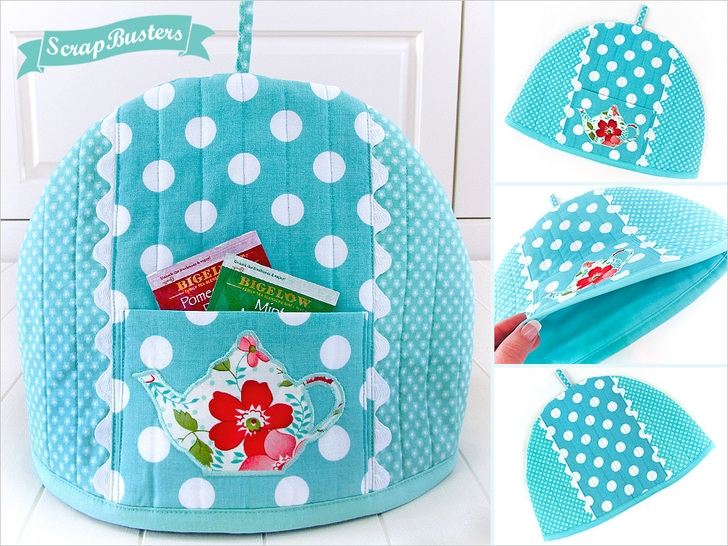 Stylish pretty teapot cozy sew4home 9 Modern Quilted Tea Cosy Pattern Inspirations
