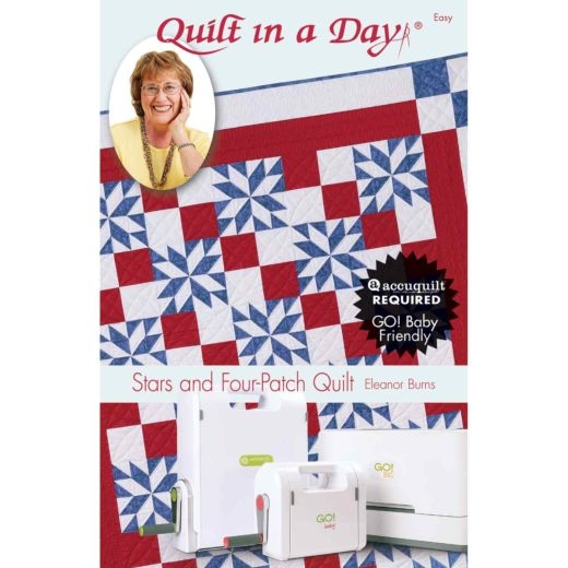 Stylish quilt in a day stars and four patch quilt pattern booklet eleanor burns 11 Modern Eleanor Burns Quilt Patterns