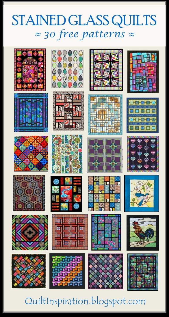 Stylish quilt inspiration free pattern day stained glass quilts 11   Stained Glass Window Quilt Pattern Gallery