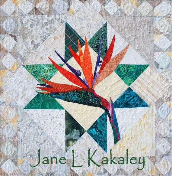 Stylish quilt pattern pdf bird of paradise applique art quilt Modern Bird Of Paradise Quilt Pattern Inspirations