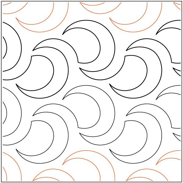 Stylish tizzy quilting pantograph pattern megan haun pantograph 10 Interesting Pantograph Patterns For Quilting