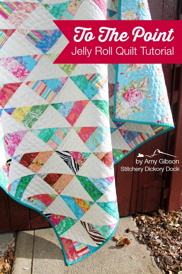 Stylish to the point a quick n easy jelly quilt tutorial 11 Stylish Jelly Roll Quilt Patterns Easy Gallery