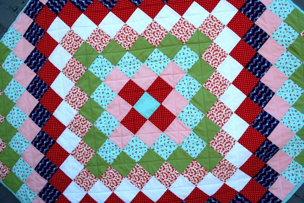 Stylish trip around the world quilt tutorial brights on white 10 Beautiful Trip Around The World Quilt Pattern Gallery