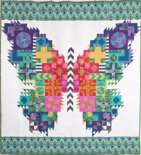 Stylish tula pink butterfly quilt 10   Tula Pink Butterfly Quilt Pattern