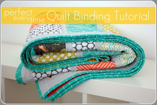 Stylish tutorial perfect every time quilt binding 9 Stylish Sewing Binding On Quilt