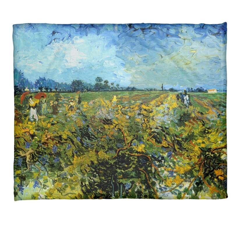 Stylish vincent van gogh the vineyard fleece throw Interesting Elegant Van Gogh Quilting Fabric Ideas Gallery