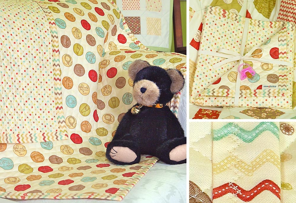 Stylish whimsy ez pre quilted ba blanket sew4home 11 Cozy Beautiful Pre Quilted Baby Fabric Inspiration Gallery