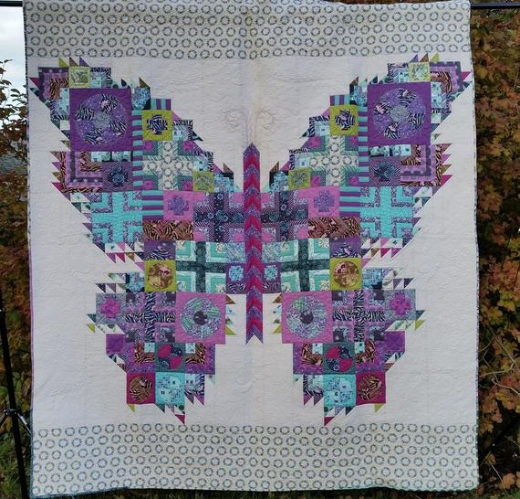the butterfly quilt 88 x 94 tula pink fabrics acacia fox field salt water the birds the bees 10   Tula Pink Butterfly Quilt Pattern
