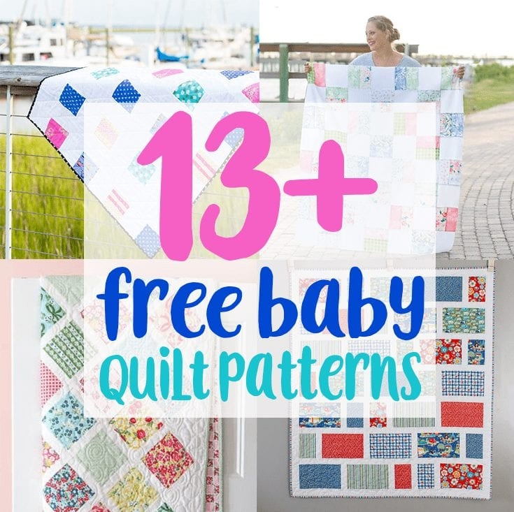 Unique 13 free ba quilt patterns to sew coral co 11 Unique Quilts Patterns For Babies Gallery
