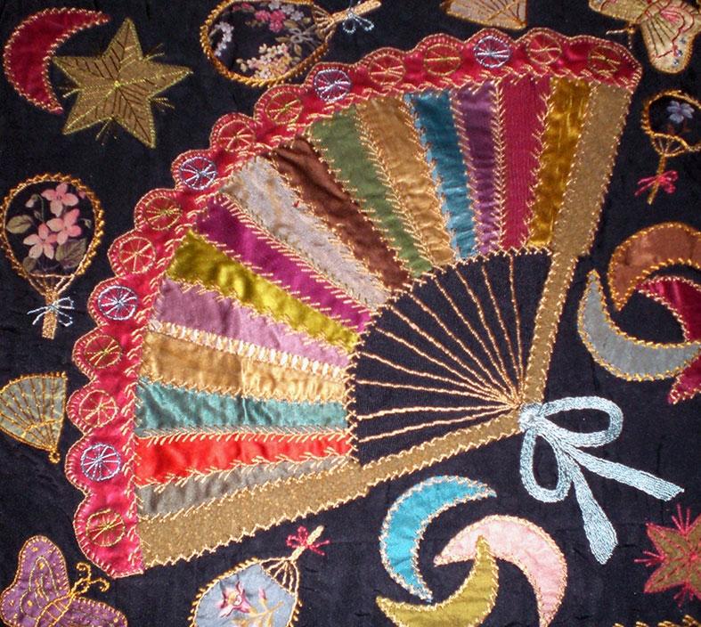 Unique antique victorian crazy quilt q is for quilter 10 New Victorian Crazy Quilt Patterns
