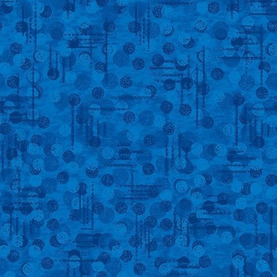 Unique blue tonal texture jotdot blender blank quilting fabric 11 New Blank Quilting Fabric Inspirations