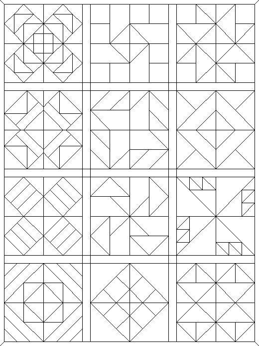 Unique coloring pages quilt patterns 11 New Quilt Patterns Coloring Pages Inspirations