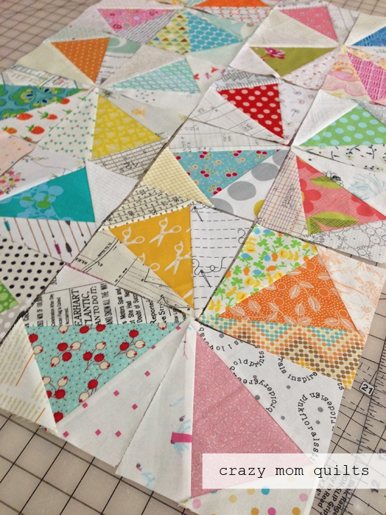 Unique crazy mom quilts kaleidoscope quilt in progress 11 Cozy Kaleidoscope Quilt Layout Ideas Gallery