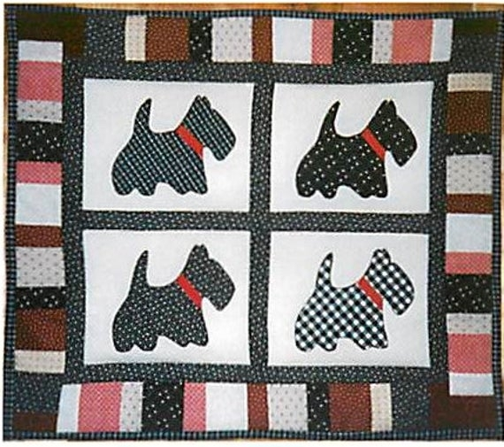 Unique dog quilt pattern scottie dog sewingframed quilt blocksscottie dog quilt easy quilt pattern quilt pattern download scottie wall quilt 9 Beautiful Scottie Dog Quilt Pattern Gallery