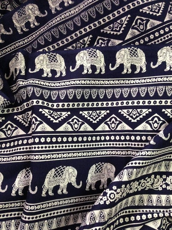 Unique elephant print fabric the yard quilting fabric boho 10 Beautiful Quilting Fabric Elephant Print Ideas Gallery