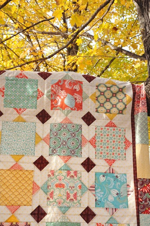Unique fall o ween winners quilts big block quilts modern quilt Large Print Fabric Quilt Patterns