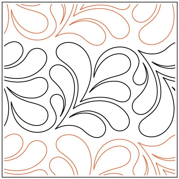 Unique first feathers quilting pantograph sewing pattern from andi 9 Elegant Pantograph Quilting Patterns