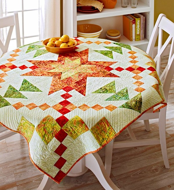 Unique free batik quilt patterns allpeoplequilt 10   Quilted Tablecloth Patterns Gallery