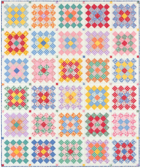 Unique granny squares quilt free pattern robert kaufman fabric company 10 Cozy Granny Square Quilt Block Pattern Gallery