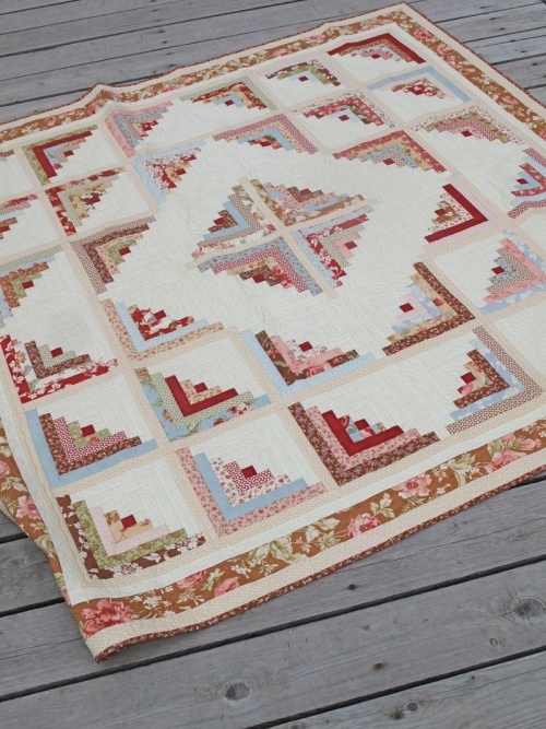 Unique log cabin quilts are so versatile yet easy to make 9 Elegant Honey Bun Quilt Patterns Inspirations