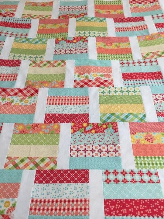 Unique pdf lap quilt patternquick and easyjelly roll layer Elegant Jelly Roll Patchwork Quilt Patterns Inspirations