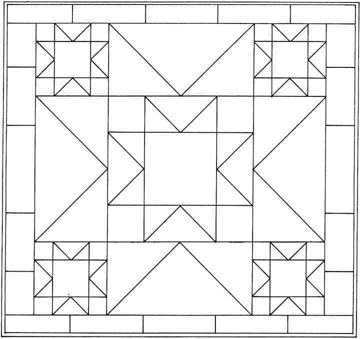 Unique printable geometric coloring pages coloring pages 9 Stylish Geometric Quilt Patterns Printable