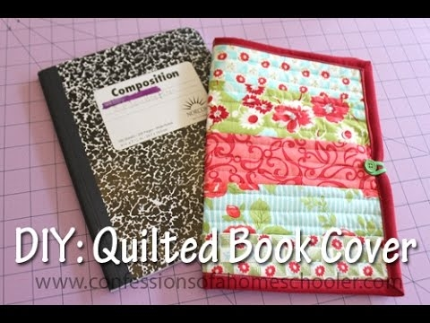 Unique quilt as you go book cover 10 Modern Quilted Book Cover Pattern