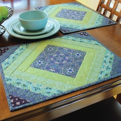 Unique quilt as you go placemats casablanca in 2020 quilted 9 Cozy Quilted Placemat Patterns