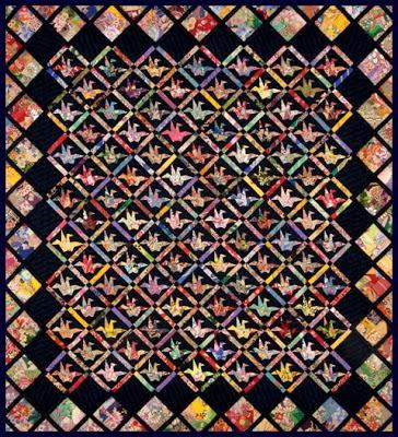 Unique quilt inspiration imagine world peace 10 Beautiful Origami Crane Quilt Pattern Inspirations