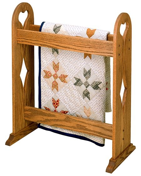 Unique quilt stand vintage woodworking plan Elegant Vintage Quilt Rack