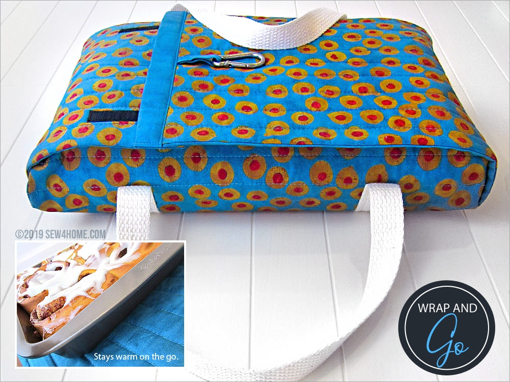 Unique quilted casserole carrier sew4home 10 Cool Quilted Casserole Carrier Pattern Inspirations