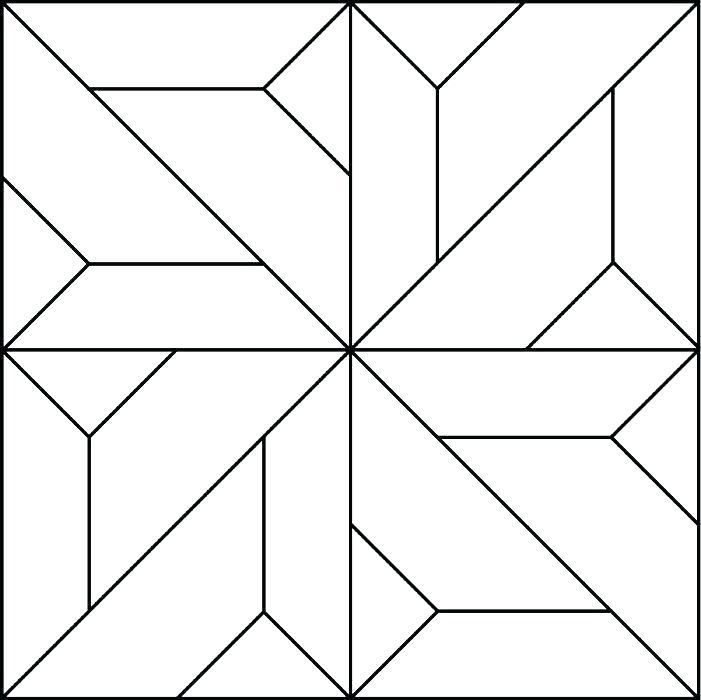 Unique quilting coloring books quilt coloring pages quilt pattern 9 Stylish Geometric Quilt Patterns Printable