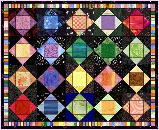 Unique square in a square in a square quilt patterns quilts 9 Unique Square In A Square Quilt Pattern