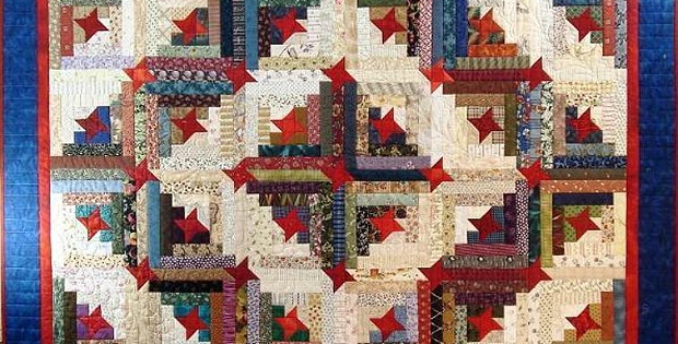 Unique stars make this scrappy log cabin quilt special quilting 9   Scrappy Log Cabin Quilt Pattern