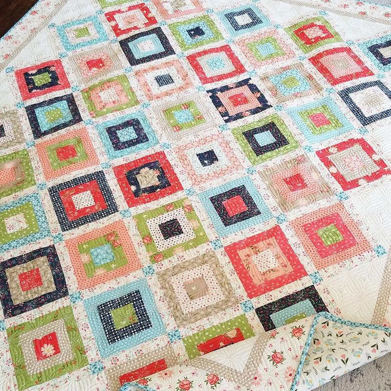 Unique weekender honeybun charm quilt a quilting life 9 Elegant Honey Bun Quilt Patterns Inspirations