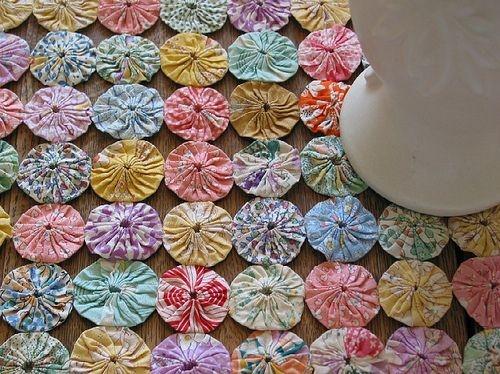 Unique yo yo quilt quilts yo yo quilt yo yos 11   Vintage Yoyo Quilt