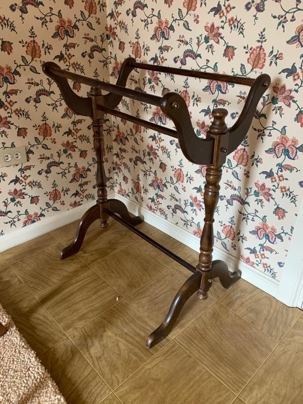 vintage quilt rack estatesales Elegant Vintage Quilt Rack